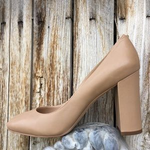 NWT Sam Edelman Stillson Pump Leather Nude 10